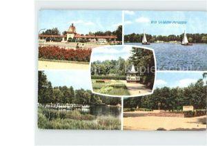 AK / Ansichtskarte Bad Saarow Pieskow Scharmuetzelsee Johannes R. Becher Platz und Denkmal Solquelle Kat. Bad Saarow