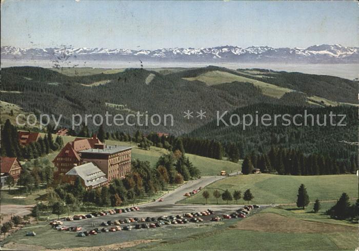 AK / Ansichtskarte Feldberg Schwarzwald mit Hotel Feldberger Hof und Schweizer Alpen Kat. Feldberg (Schwarzwald)