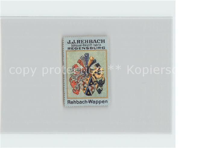 AK / Ansichtskarte Regensburg Wappen Werbung Schluessel Bleistift Fabrik J. J. Rehbach Kat. Regensburg
