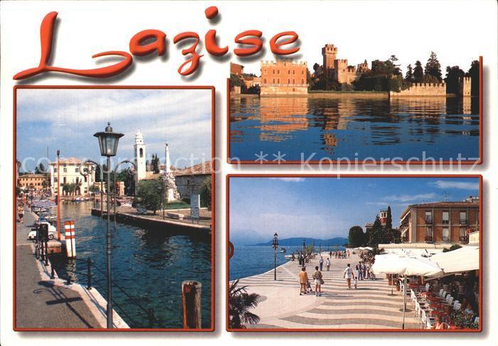 Karte Gardasee Lazise.Lago Di Garda Lazise Alte Postkarte