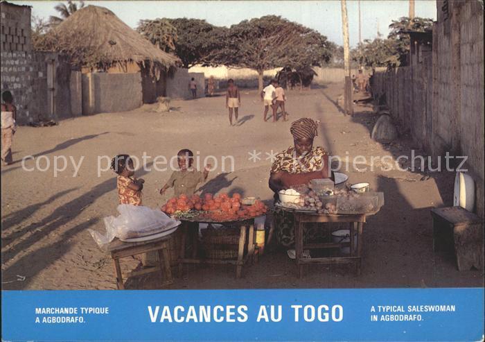AK / Ansichtskarte Agborafo Marktstand