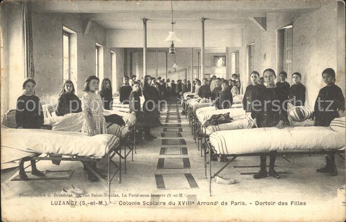 AK / Ansichtskarte Luzancy Colonie Scolaire Dortoir des Filles / Luzancy /Arrond. de Meaux