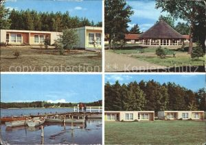 AK / Ansichtskarte Ahrensdorf Templin Erholungsheim VEB Leuna Werke Walter Ulbricht Bootssteg See / Templin /Uckermark LKR
