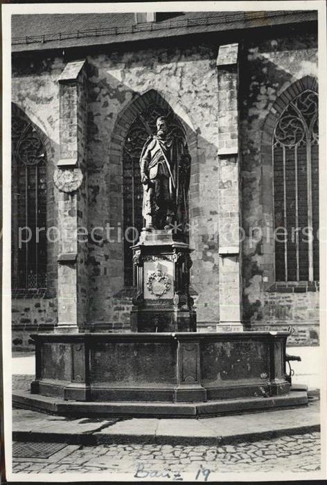 AK / Ansichtskarte Bautzen Denkmal Kurfuerst Johann Georg an der Petrikirche Kat. Bautzen