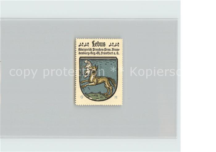 AK / Ansichtskarte Lebus Koenigreich Preussen Bezirk Frankfurt Oder Wappen  Kat. Lebus