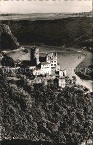 AK / Ansichtskarte St Goarshausen Burg Katz am Rhein Kat. Sankt Goarshausen