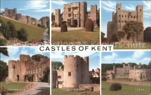 AK / Ansichtskarte Kent Castles of the region Dover Hever Rochester Leeds Allington Tonbridge