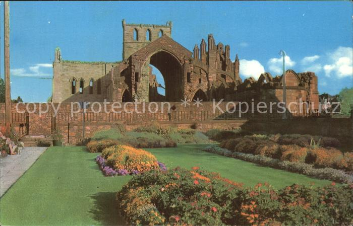 AK / Ansichtskarte Melrose & District The Gardens of the Abbey Kat. Scottish Borders