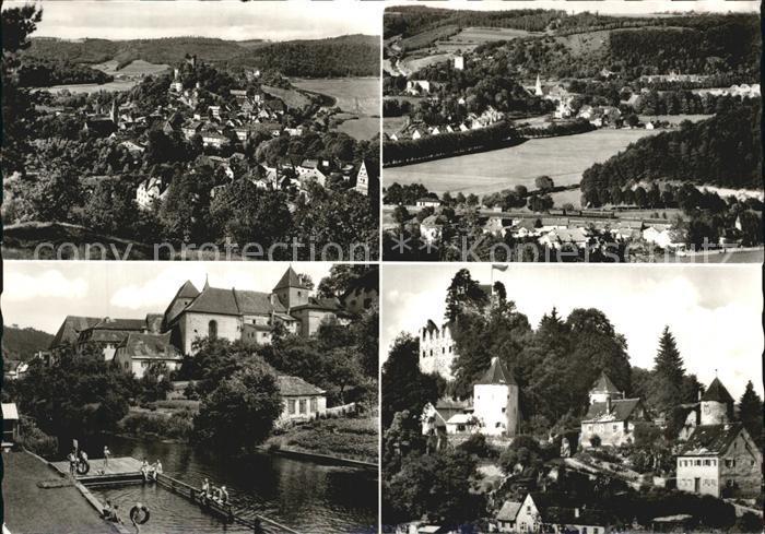 AK / Ansichtskarte Pappenheim Mittelfranken Panorama Blick vom Muehlberg Luftkurort Burg Bad Altmuehl Kat. Pappenheim