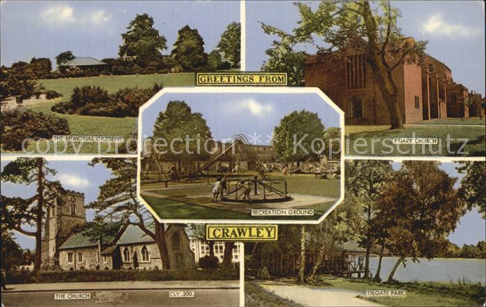 AK / Ansichtskarte Crawley Crawley Friary Church Tilgate Park Church Memorial Garden Kat. Crawley