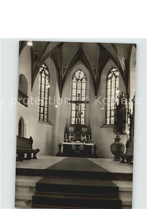 AK / Ansichtskarte Sayda Kirche Altarraum Kat. Sayda