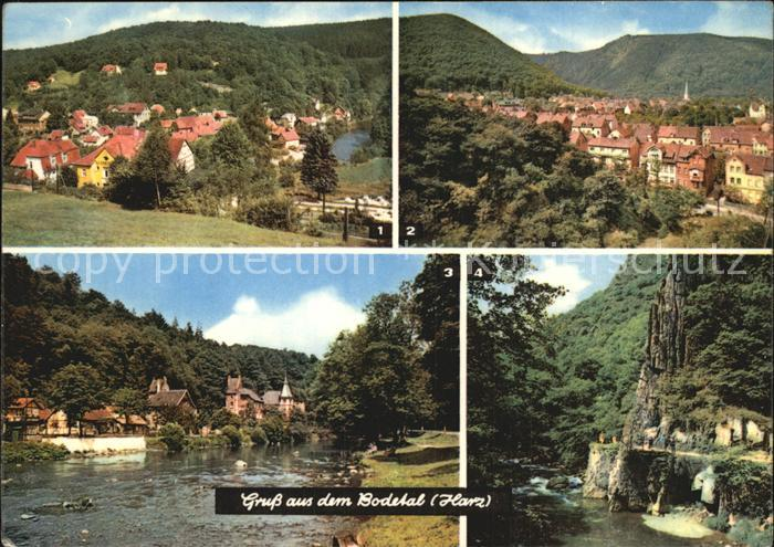 AK / Ansichtskarte Bodetal Harz Altenbrak Thale mit Rosstrappe Treseburg Im Bodetal Kat. Treseburg