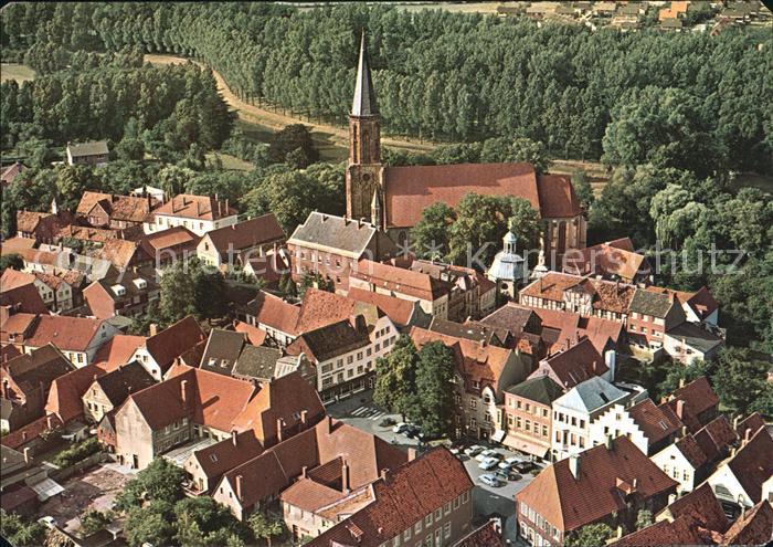AK / Ansichtskarte Telgte Warendorf Altstadt Kirche Fliegeraufnahme Kat. Telgte