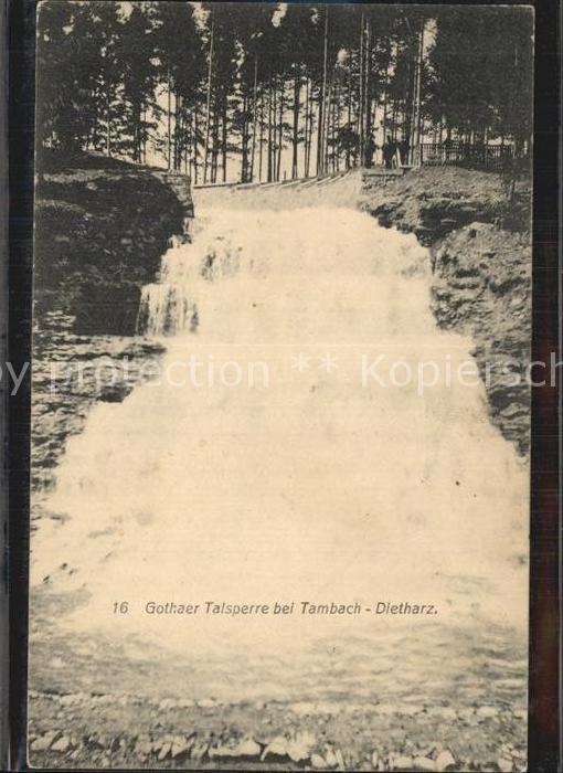 AK / Ansichtskarte Tambach Dietharz Gothaer Talsperre Kat. Tambach Dietharz