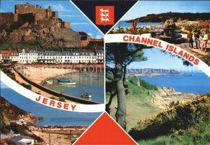 AK / Ansichtskarte Jersey Mont Orguel Castle Bonne Nuit Bay St Brelades Bay Beauport Bay Channel Islands Kat. Jersey