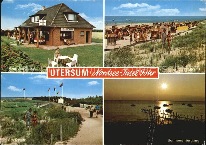AK Ansichtskarte Utersum Haus des Gastes Strand