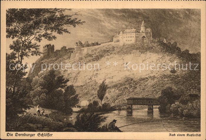 AK / Ansichtskarte Dornburg Saale Dornburger Schloesser Kartenkalender Goethejahr 1932 Kupferstich Kat. Dornburg Saale