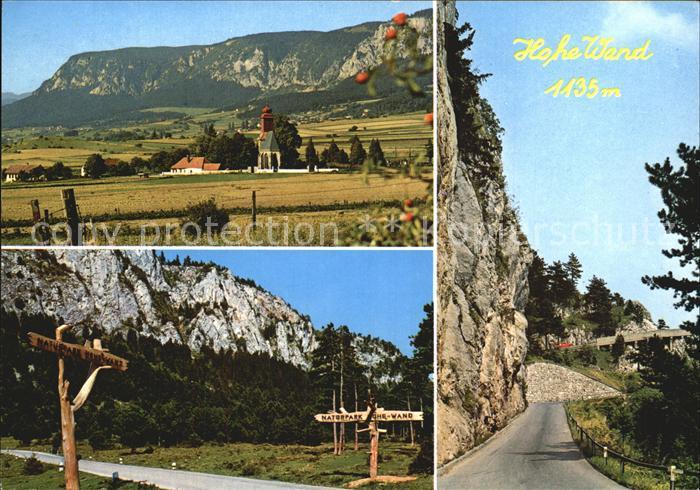 AK / Ansichtskarte Hohe Wand Naturpark Hohe Wand Mauthstrasse Kat. Hohe Wand