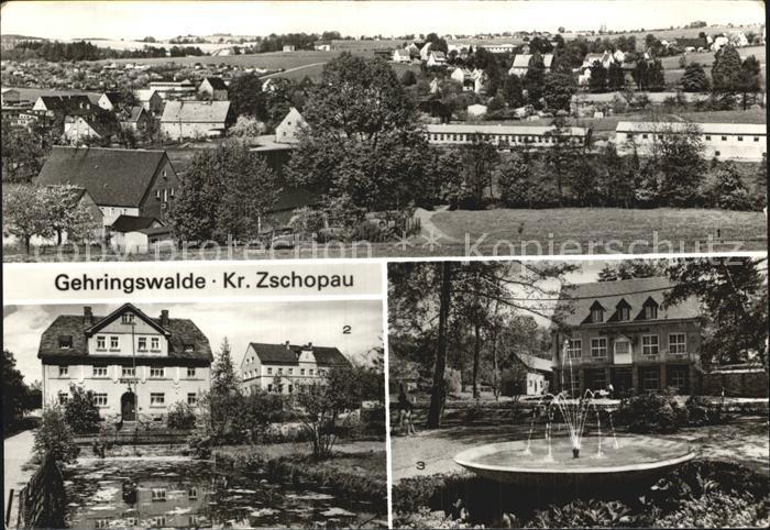 AK / Ansichtskarte Gehringswalde Rathaus Kaffee Warmbad uebersicht Kat. Wolkenstein