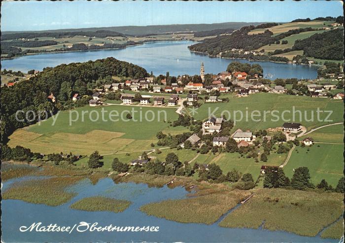 AK / Ansichtskarte Mattsee Salzburg Trumersee Fliegeraufnahme Kat. Mattsee