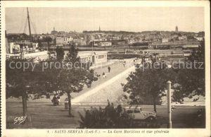 AK / Ansichtskarte Saint Servan Ille et Vilaine La Gare Maritime et vue generale Kat. Saint Malo