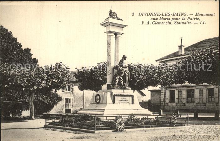 AK / Ansichtskarte Divonne les Bains Monument aux Morts pour la Patrie Kriegerdenkmal Kat. Divonne les Bains