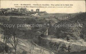 AK / Ansichtskarte Saint Brieuc Cotes d Armor Vallee du Gouedic vue prise de la Gare des Chemins de Fer Departementaux Kat. Saint Brieuc