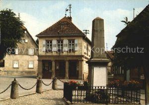 AK / Ansichtskarte Romanswiller Le Monument aux Morts et la Mairie Kriegerdenkmal Kat. Romanswiller