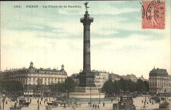AK / Ansichtskarte Paris Place de la Bastille Colonne de Juillet Kat. Paris