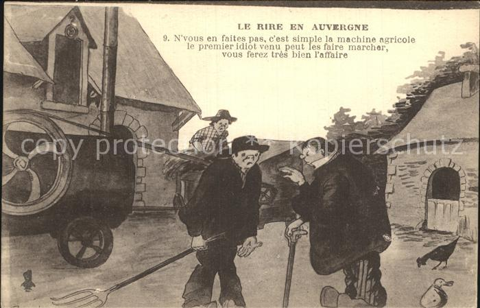AK / Ansichtskarte Auvergne Region Le rire en Auvergne Dessin Karikatur Kat. Clermont Ferrand
