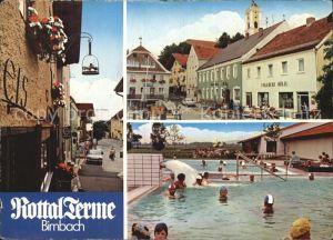 AK / Ansichtskarte Birnbach Rottal Rottal Terme Thermalbad Ortspartie an der Kirche