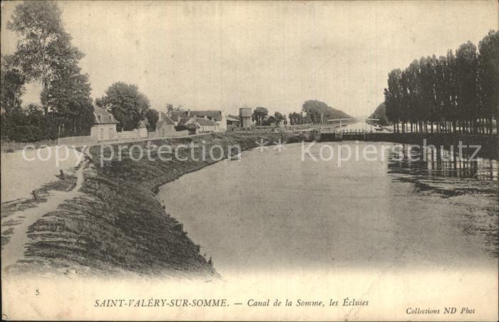 AK / Ansichtskarte Saint Valery sur Somme Canal de la Somme les Ecluses Kat. Saint Valery sur Somme