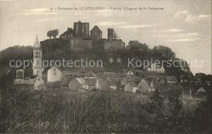 AK / Ansichtskarte Lichtenberg Saverne Forteresse vue du village Eglise Kat. Lichtenberg