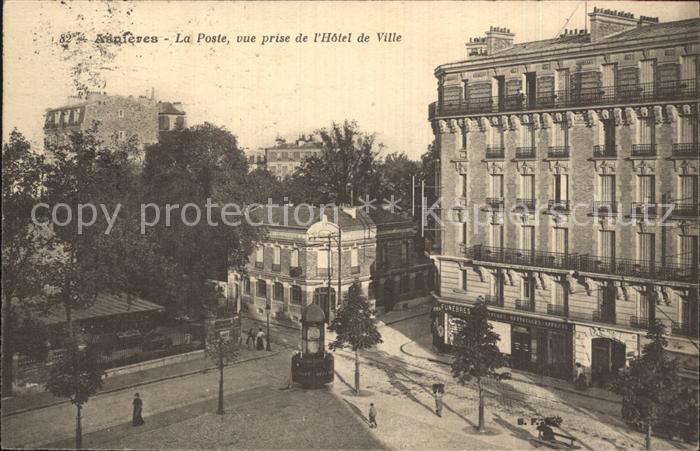 AK / Ansichtskarte Asnieres sur Seine La Poste vue prise de l Hotel de Ville Kat. Asnieres sur Seine