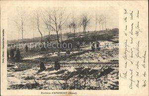 AK / Ansichtskarte Apremont la Foret Soldaten Kriegsjahre im Winter 1. Weltkrieg