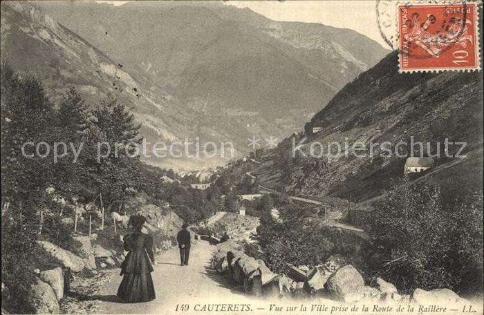 AK / Ansichtskarte Cauterets Vue prise de la Route de la Raillere Kat. Cauterets