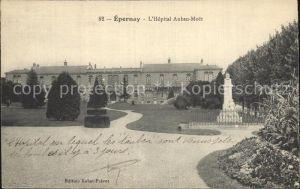 AK / Ansichtskarte Epernay Marne Hopital Auban Moet Monument Kat. Epernay