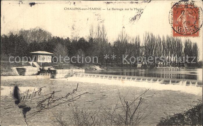 AK / Ansichtskarte Chalons sur Marne Ardenne Le Barrage sur la Marne Kat. Chalons en Champagne