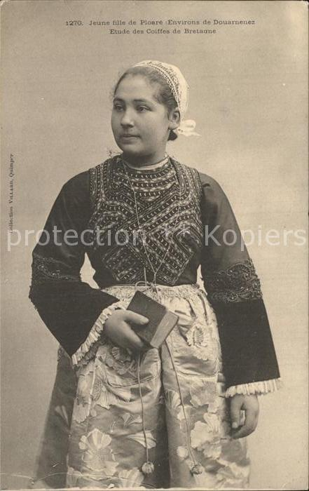 AK / Ansichtskarte Ploare Jeune fille Etude des Coiffes de Bretagne