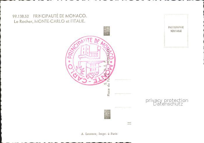 Monaco Italien Karte.Ak Ansichtskarte Monaco Schloss Felsen Monte Carlo Italien Kat Monaco