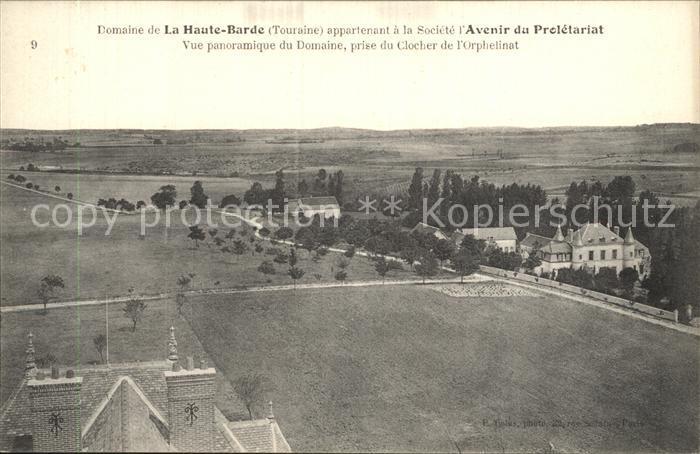 AK / Ansichtskarte La Haute Barde Chateau vue prise du Clocher de l Orphelinat