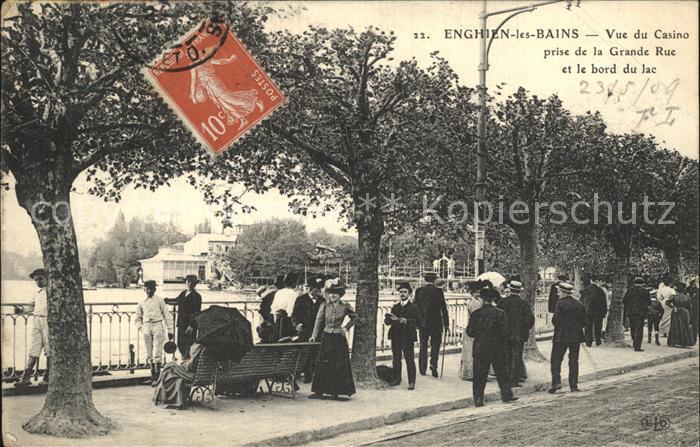 AK / Ansichtskarte Enghien les Bains Vue du Casino prise de la Grande Rue Bord du Lac Kat. Enghien les Bains