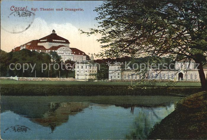 AK / Ansichtskarte Cassel Kassel Koenigliches Theater und Orangerie Teich Kat. Kassel