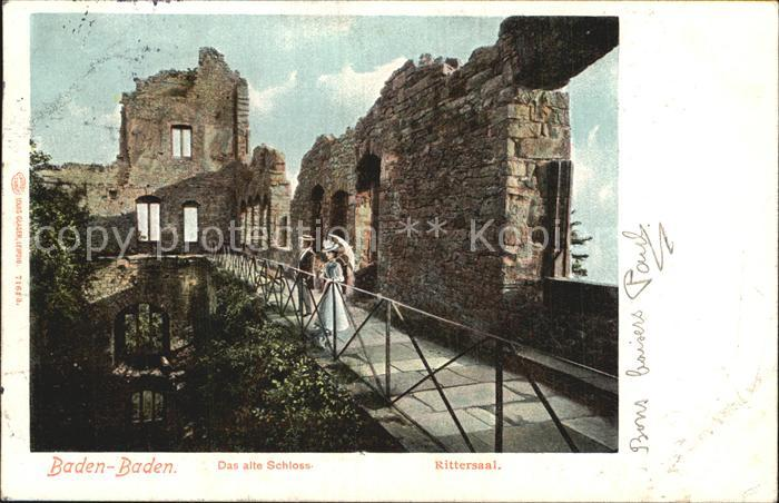 AK / Ansichtskarte Baden Baden Altes Schloss Rittersaal Ruine Kat. Baden Baden