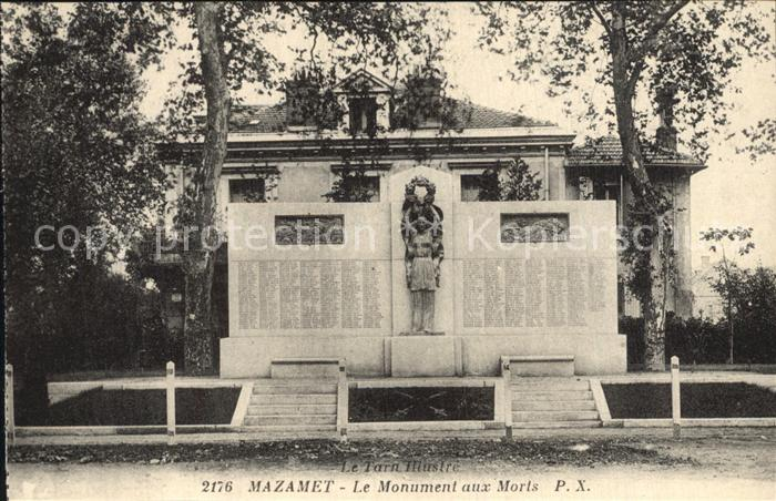 AK / Ansichtskarte Mazamet Monument aux Morts Kriegerdenkmal Kat. Mazamet