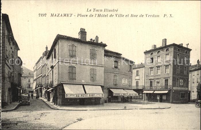 AK / Ansichtskarte Mazamet Place de l Hotel de Ville Rue de Verdun Kat. Mazamet