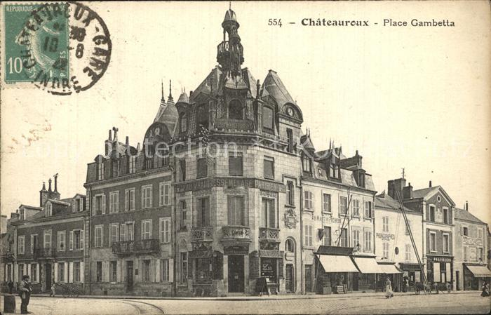 AK / Ansichtskarte Chateauroux Indre Place Gambetta Kat. Chateauroux