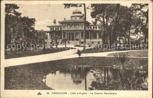 AK / Ansichtskarte Arcachon Gironde Casino Mauresque Etang Kat. Arcachon