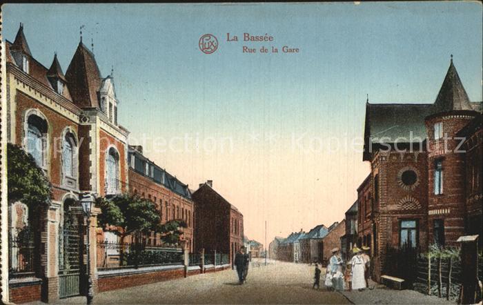AK / Ansichtskarte La Bassee Rue de la Gare Kat. La Bassee