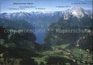 AK / Ansichtskarte Koenigssee Steinernes Meer Watzmann Bartholomae Funtenseetauern